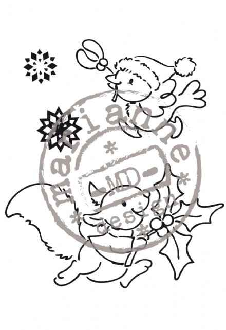 EC0136 ~ Hurry Home ~ ELINE'S CHRISTMAS ~ Marianne Designs Clear stamp